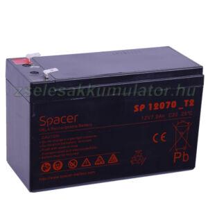 12V 7Ah T2 Spacer zselés akkumulátor