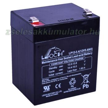 12V 5,4Ah zselés akkumulátor